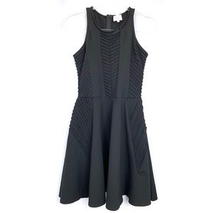 Parker black ribbed fit and flare tank dress